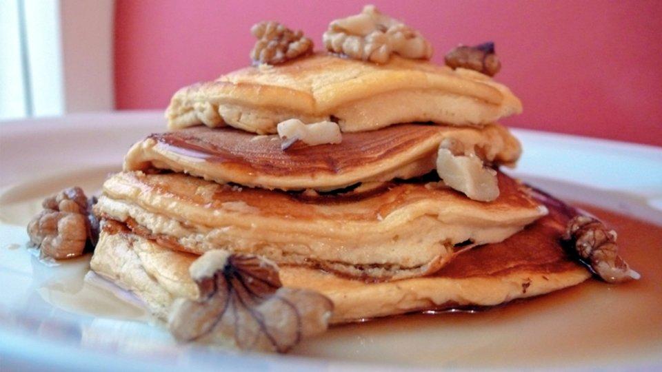 Banana And Vanilla Protein Pancakes