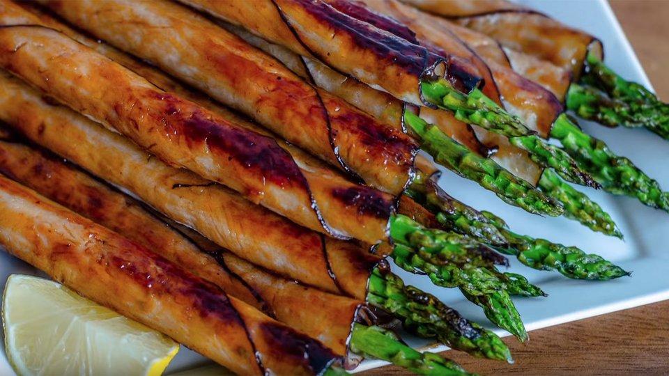 BBQ Turkey-Wrapped Asparagus