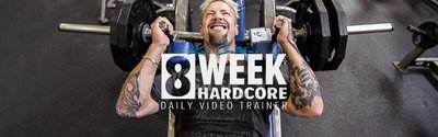 Kris Gethin's 8-Week Hardcore Video Trainer wide header image