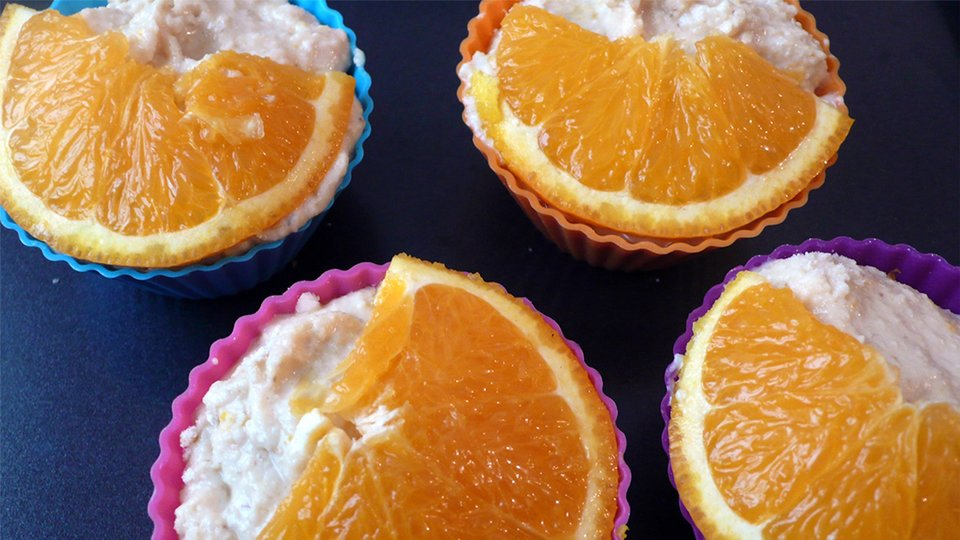Orange Vanilla Whey Protein Muffins