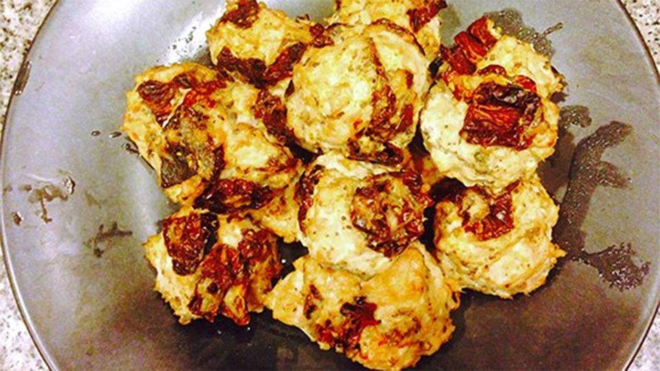 Sun-Dried Tomato And Chicken Meatballs With Spaghetti Squash
