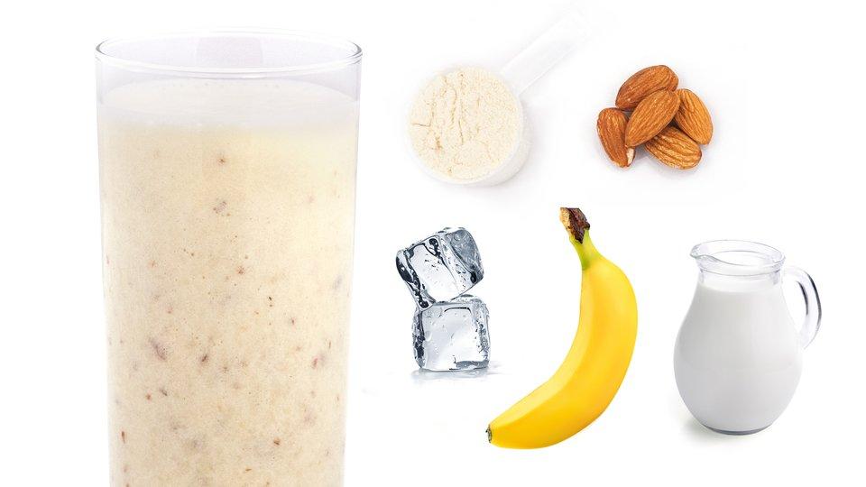 Banana Almond Cream Shake