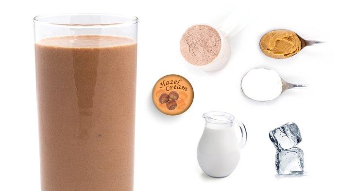 caramel hazelnut protein shake