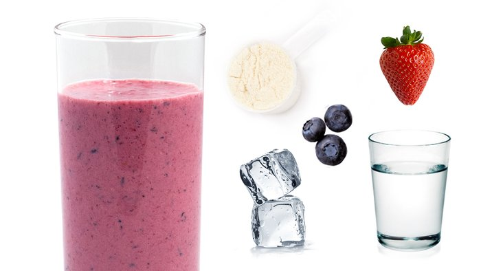 double berry protein shake