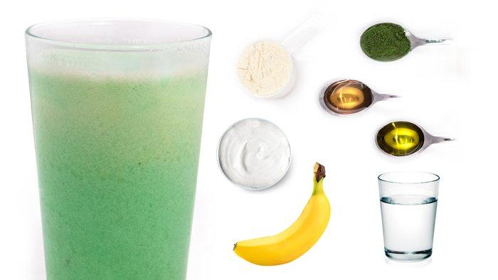 honey banana protein shake