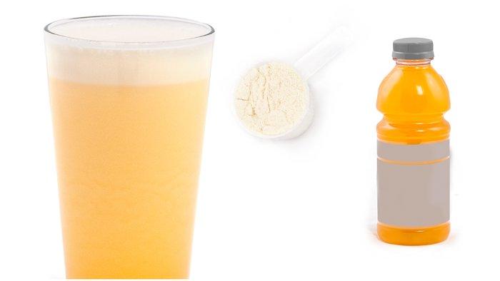 orange and cream protein shake