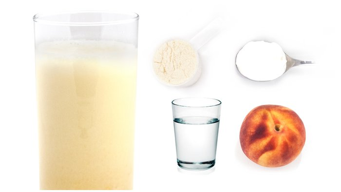 peaches and cream protein shake