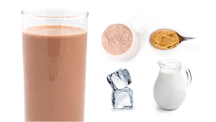 peanut butter chocolate protein shake