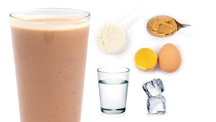 peanut butter gainer protein shake