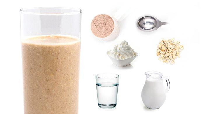 peppermint oatmeal protein shake