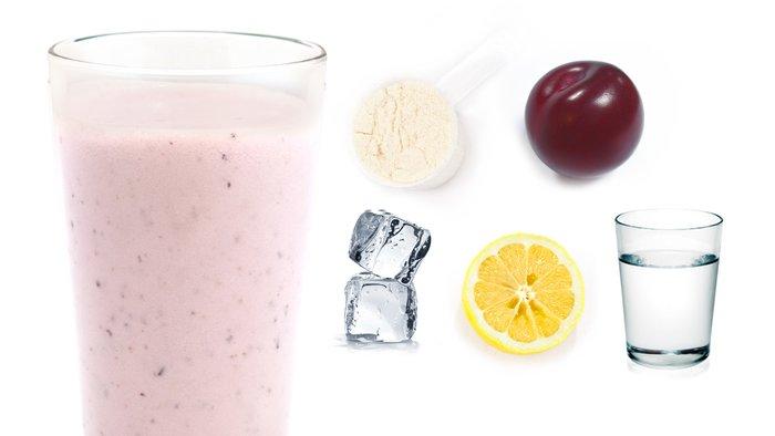 plum lemon protein shake