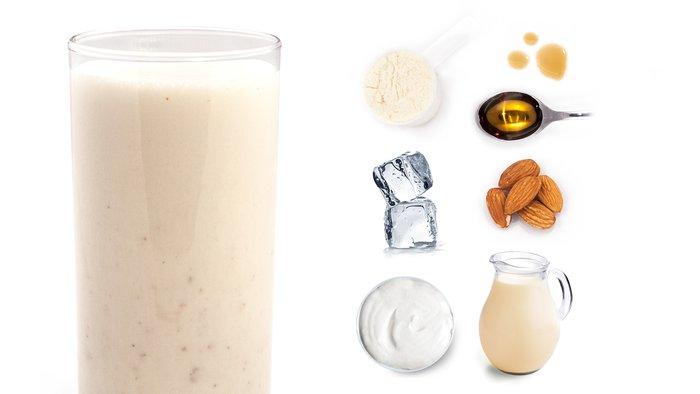 soy almond protein shake