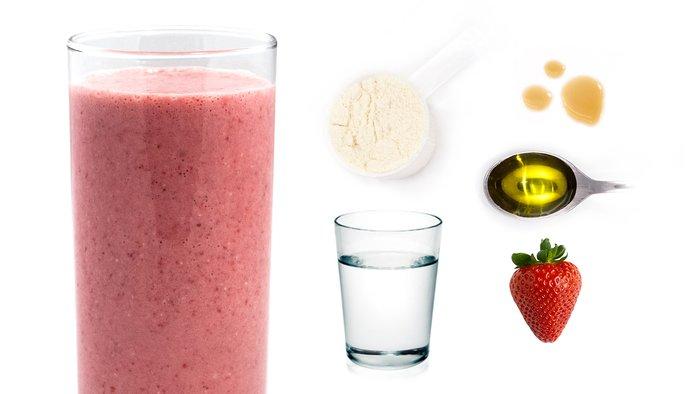 strawberry energy protein shake