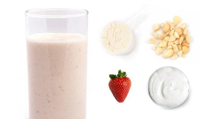 strawberry nut protein shake