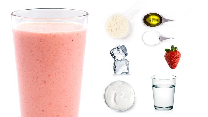 strawberry savior protein shake