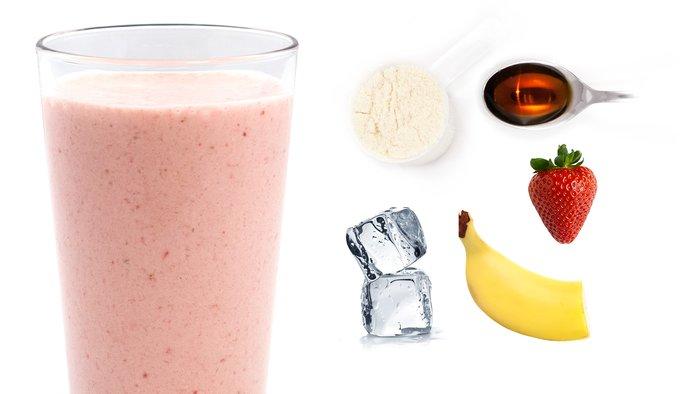 strawberry vanilla protein shake