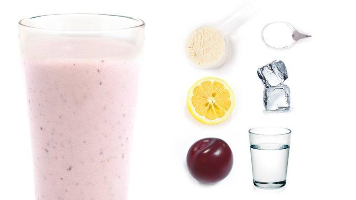 vita plum protein shake