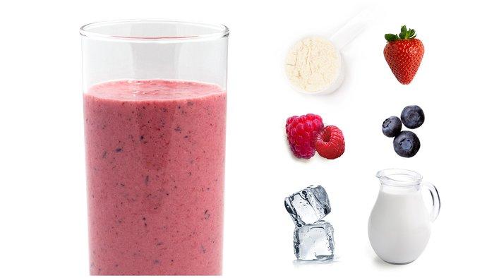 wild berry protein shake
