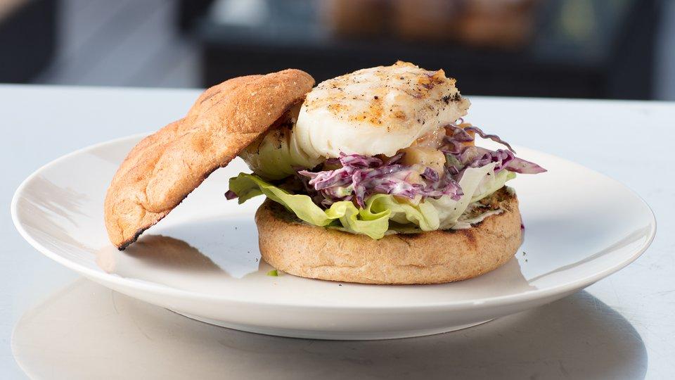 Chef Robert Irvine: Grilled Mahi-Mahi Sandwich