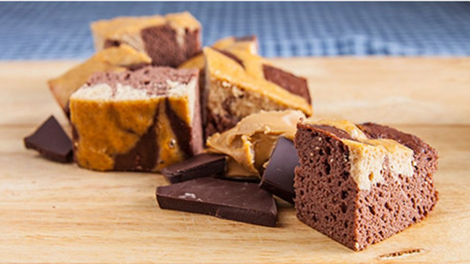 Chocolate Peanut Butter Swirl Protein Bars