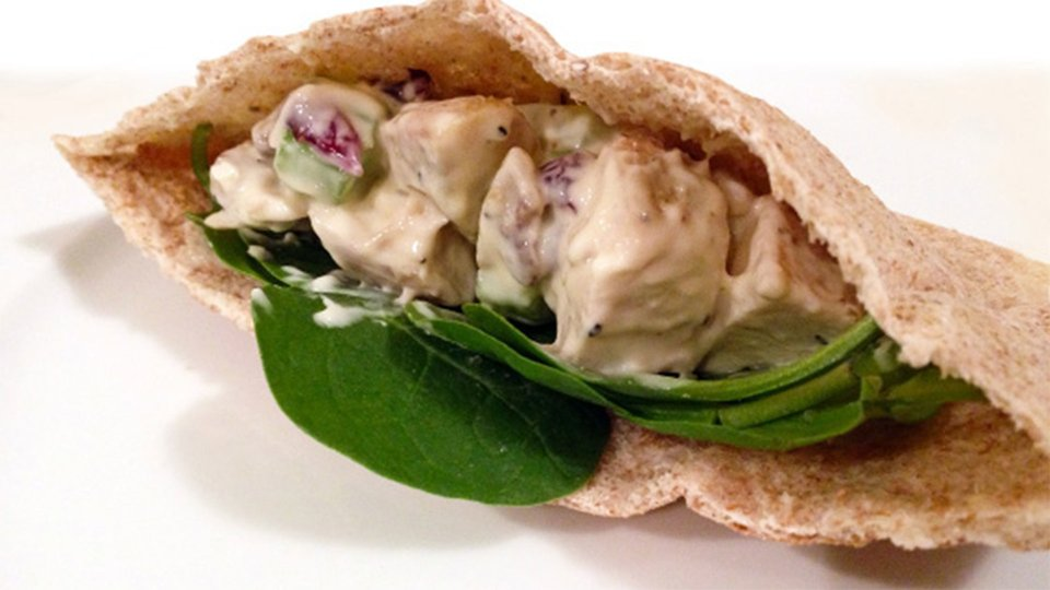 Creamy Chicken Pitas