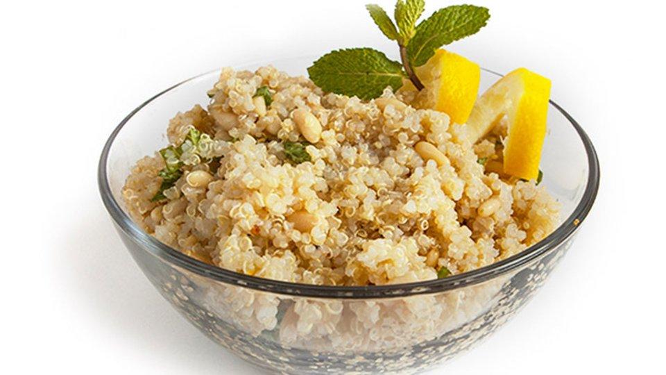 Lemon Quinoa Mint Salad