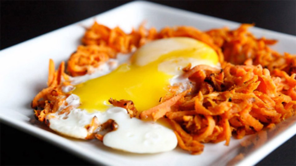 Sweet Potato Hash With Egg