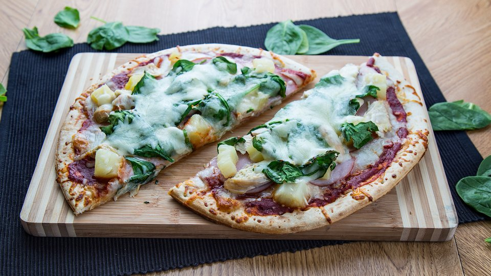 Homemade Hawaiian Pizza