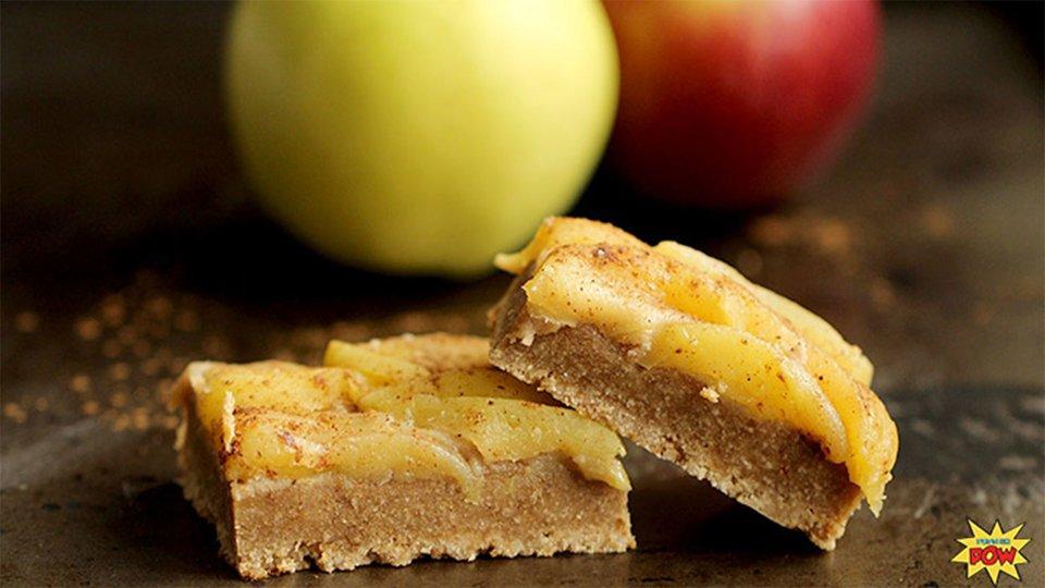 Gluten-Free Apple Pie Protein Bars