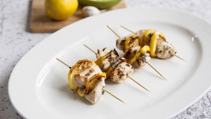 Grilled Chicken And Lemon Skewers