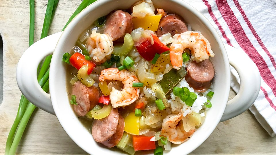 Healthy Shrimp and Sausage Gumbo