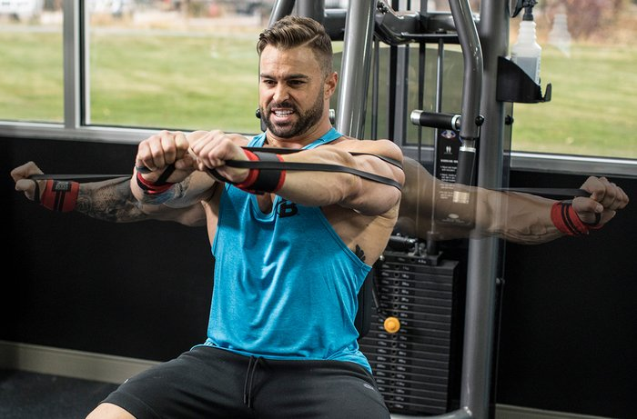 Resistance Band Chest Fly chest workout