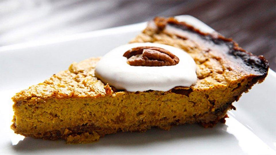 Pumpkin Pie With Walnut Crust