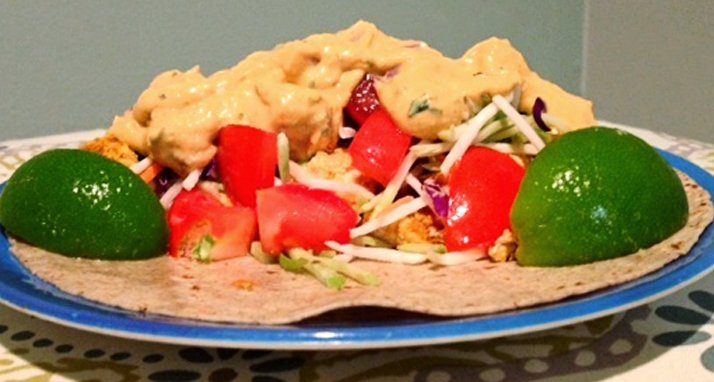 Chicken Tacos with Pumpkin Sauce
