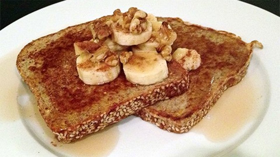 Banana-Walnut French Toast