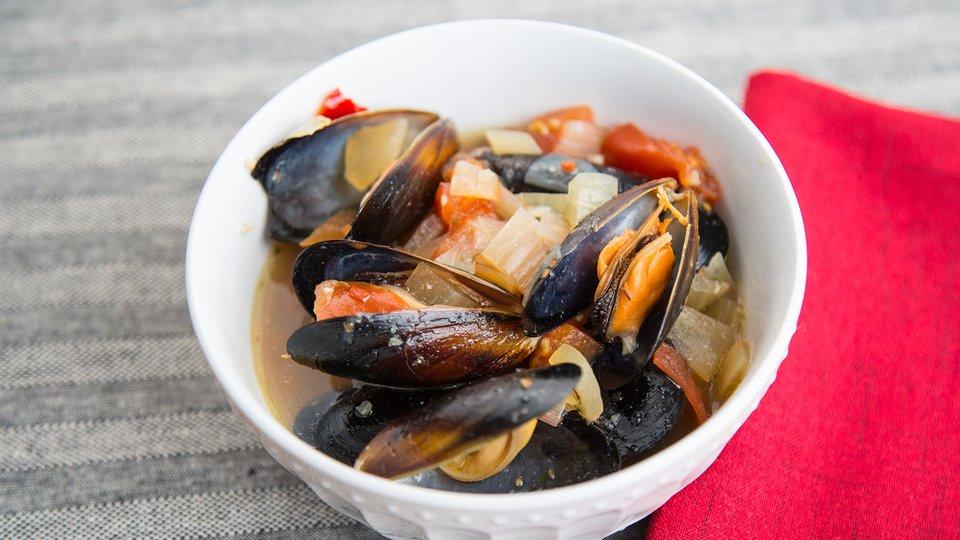 Beer Steamed Mussels