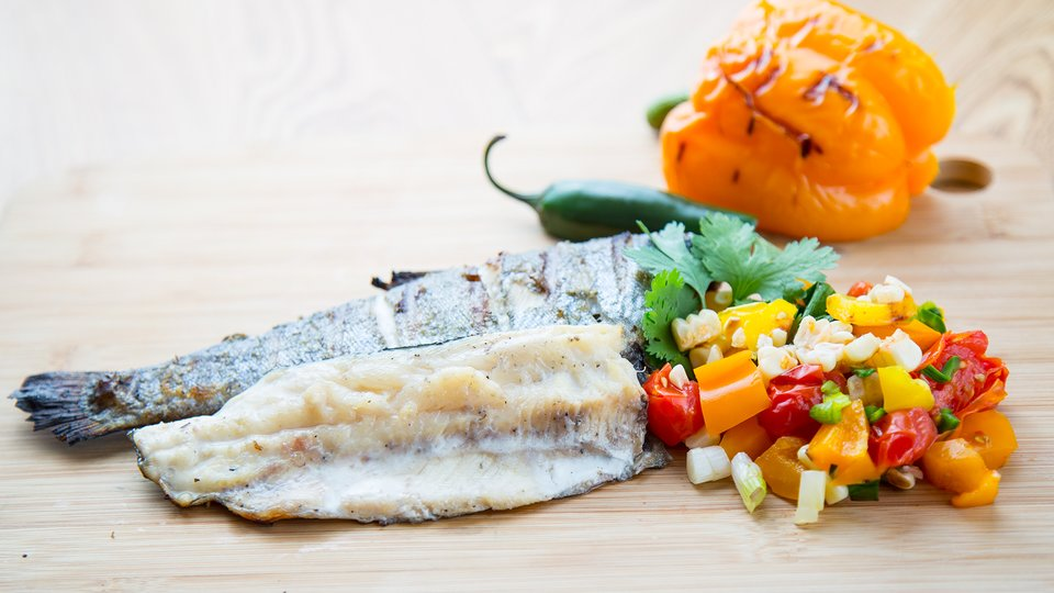 Grilled Trout with Charred Corn Salsa