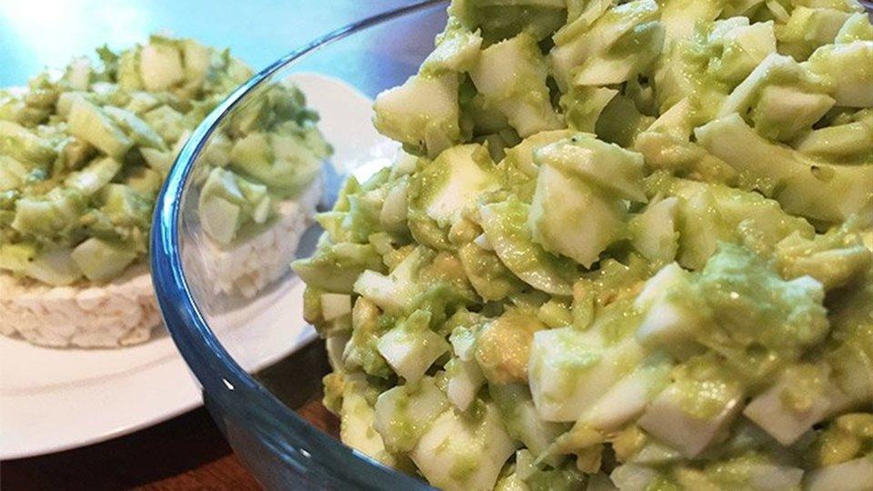 Avocado Egg White Salad