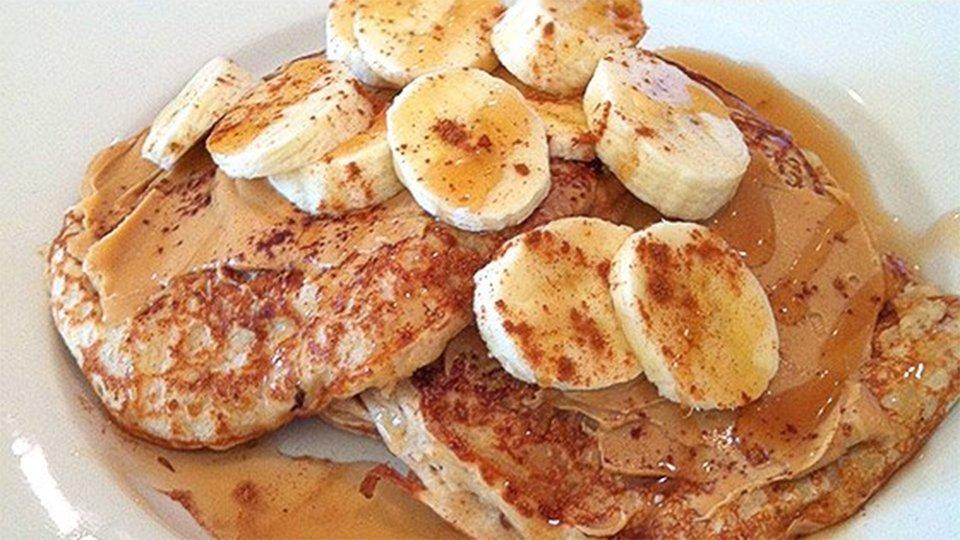 Cottage Cheese Banana Pancakes
