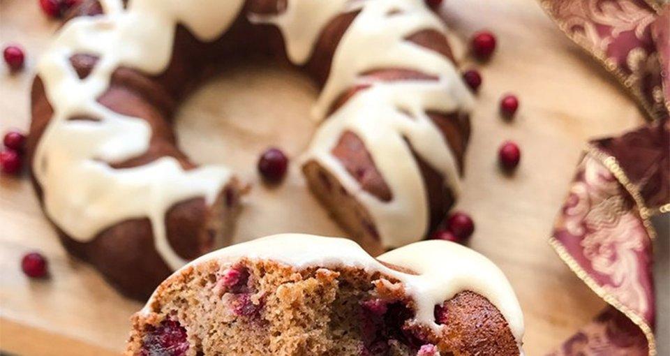 Cranberry Spice Protein Bundt Cake