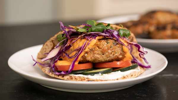 Red Curry Turkey Burgers