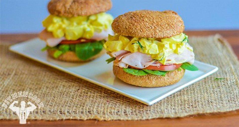 Mega Turkey Egg Salad Sandwich