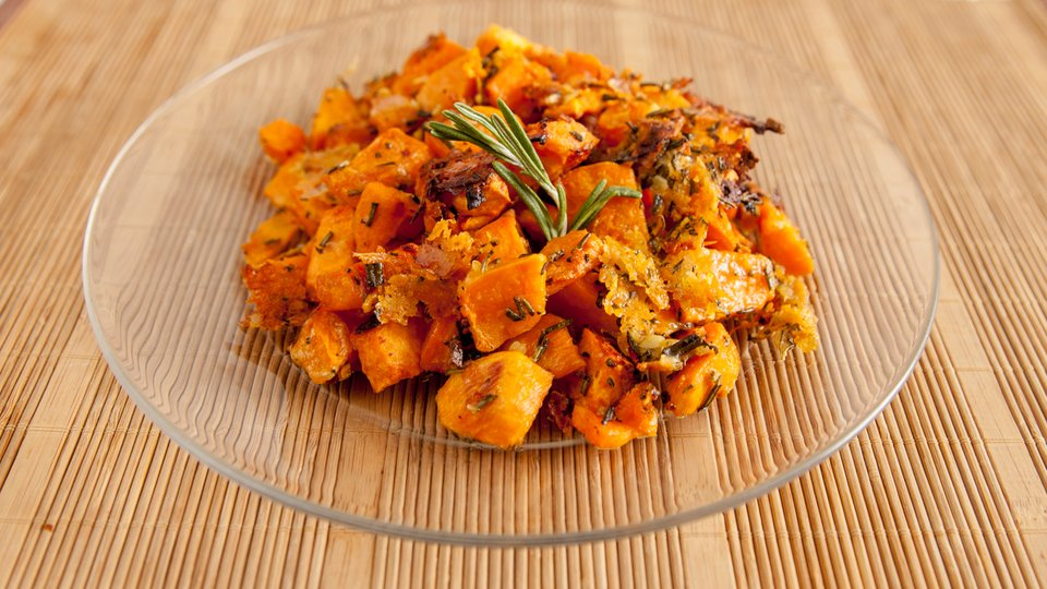 Rosemary Parmesan Roasted Sweet Potatoes
