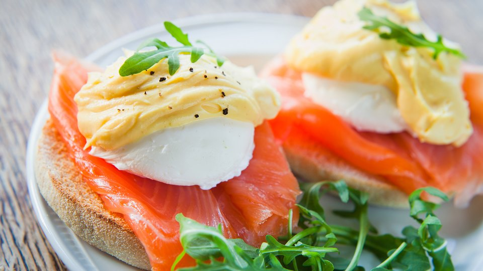 Egg and Salmon Muffin
