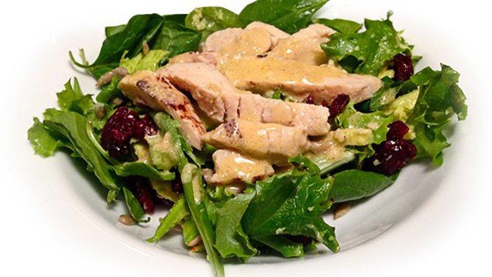 Chicken Avocado Spinach Salad