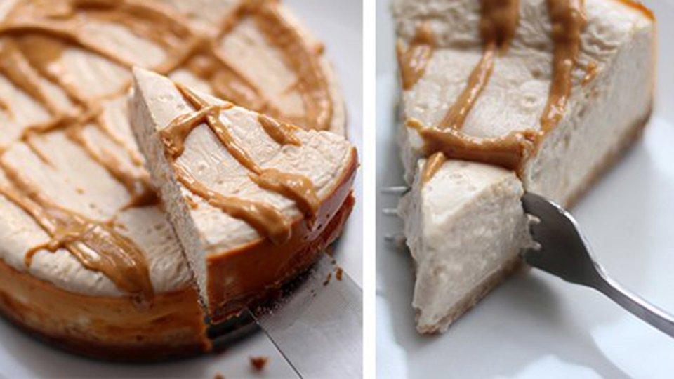 Peanut Butter Marshmallow Protein Cheesecake