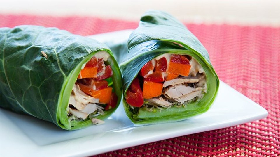 Chicken Collard Wraps
