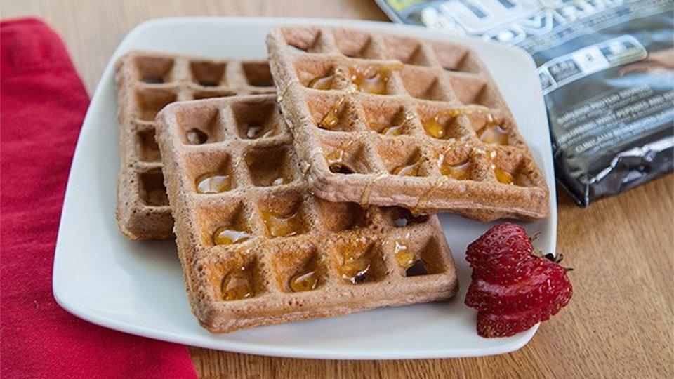Chocolate Peanut Butter Waffle