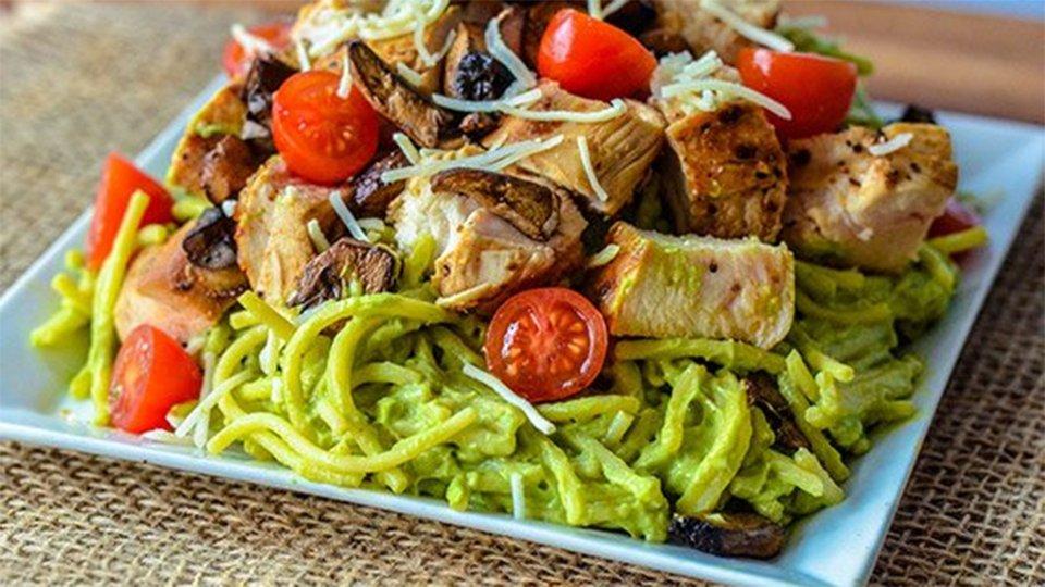 Creamy Avocado Chicken Pasta