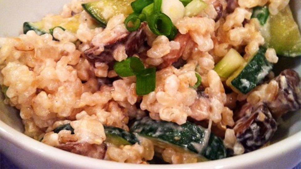Creamy Zucchini Brown Rice